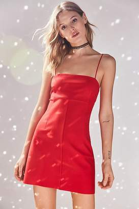 Silence & Noise Silence + Noise Audrey Red A-Line Mini Slip Dress