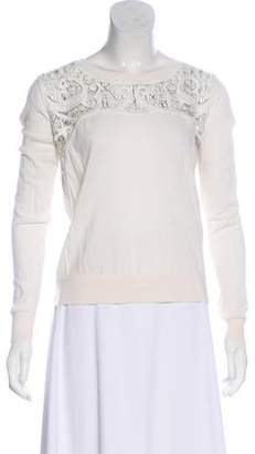 The Kooples Embroidered Wool Top