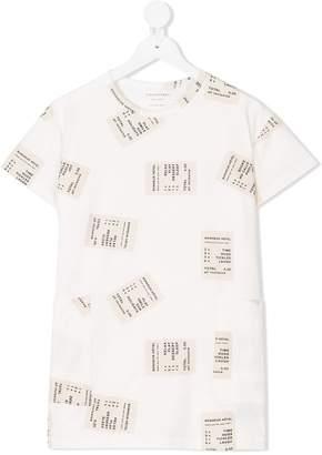 Tiny Cottons ticket print oversized dress
