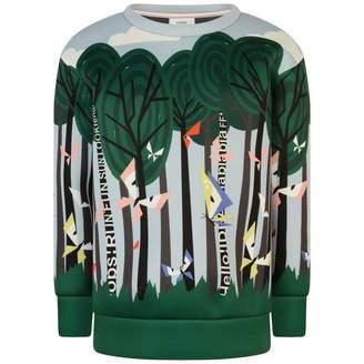 Fendi FendiGirls Multi-Coloured Butterflies Sweater