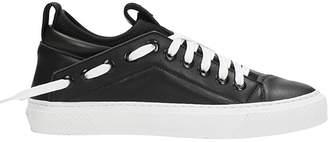 Bruno Bordese Tringular Sneakers In Black Leather