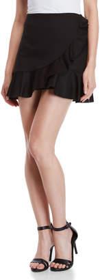Necessary Objects Black Ruffle Mini Skirt