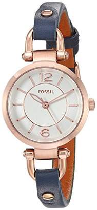 Fossil Women's Quartz Stainless Steel and Leather Watch