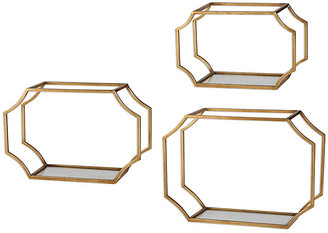 One Kings Lane Lindee Wall Shelves - Gold