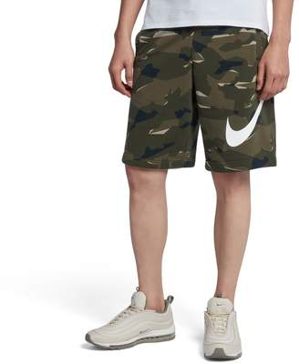 Nike Men's French Terry Camouflage Shorts