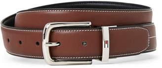Tommy Hilfiger Cognac & Black Contrast-Stitched Reversible Belt