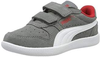 Puma Icra Trainer Sd V Ps, Unisex Kids' Low-Top Sneakers, Grey (Steel Gray White 14), 11.5 Child UK (30 EU)