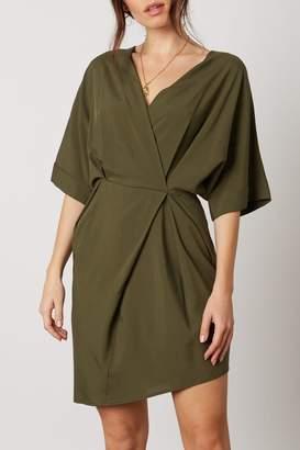 Cotton Candy Surplice Kimono-Sleeve Dress