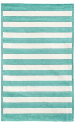Pottery Barn Teen Capel Cottage Stripe Rug, 8'x10', Pool