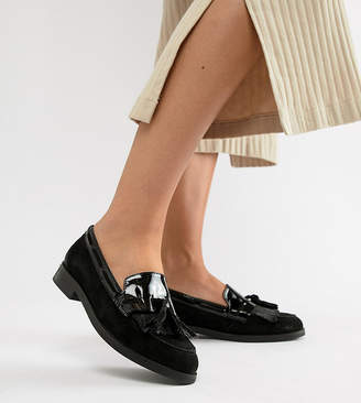Dune Flat Wide Fit Leather Loafers
