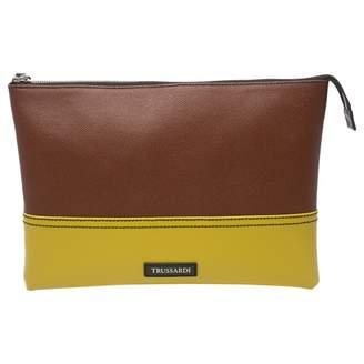 Trussardi Brown Leather Clutch bag