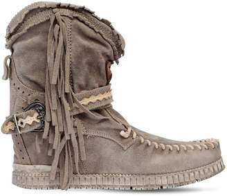 EL VAQUERO 70mm Arya Suede Fringed Wedge Boots
