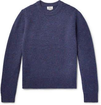Acne Studios Kai Melange Wool Sweater - Men - Dark purple