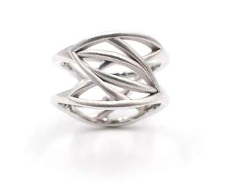 Machado Anna Jewelry Design - Leaves On Two Sides Ring