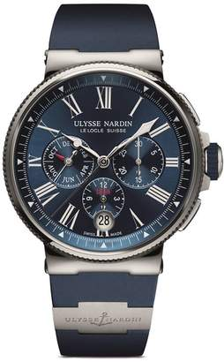 Ulysse Nardin Stainless Steel Marine Chronograph Watch 43mm