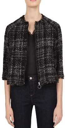 Gerard Darel Scarlet Tweed Zip Jacket