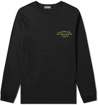 Christian Dior Long Sleeve Atelier Tribe Embroidered Tee