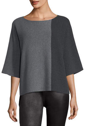 Eileen Fisher Bateau-Neck Lofty Recycled Cashmere Tunic