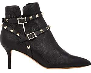 Valentino Women's Rockstud Ankle Booties - Black