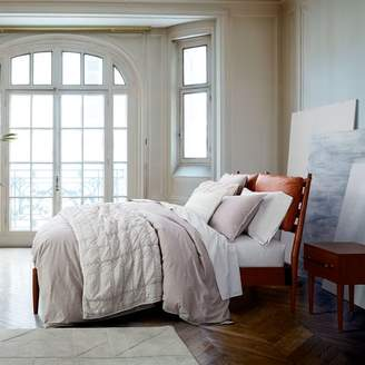 west elm Arne Bed + Leather Cushions