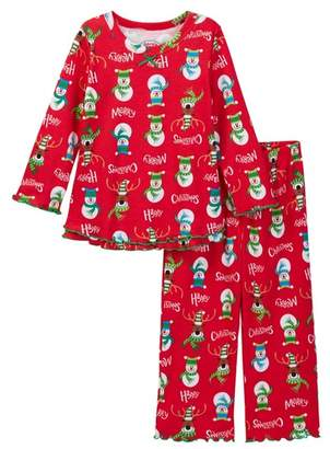 Sara's Prints Printed Ruffle Hem Pajamas (Baby, Toddler, Little Girls, & Big Girls)