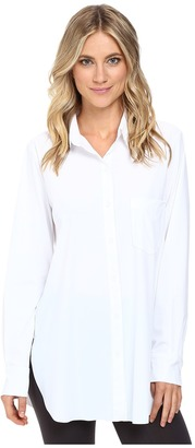 Lysse - Schiffer Stretch Button Down Women's Long Sleeve Button Up $108 thestylecure.com
