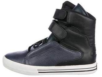 Supra Leather High-Top Sneakers