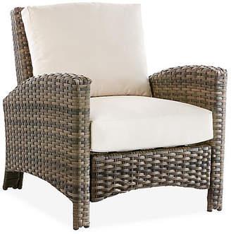Panama Wicker Club Chair - Brown/Canvas - South Sea Rattan
