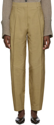 Victoria Beckham Beige High-Waisted Panelled Trousers
