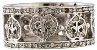 Ring 14K Diamond Peace Heart Band