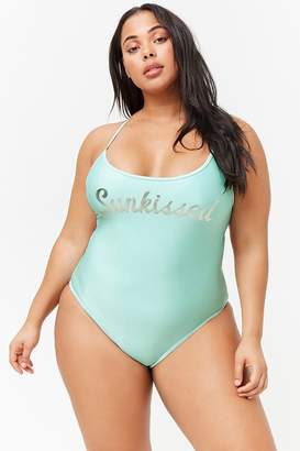 Forever 21 Plus Size Sunkissed Cutout One-Piece Swimsuit
