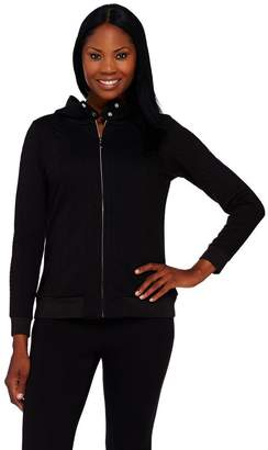 Isaac Mizrahi Live! SOHO Knit Cable Zip Up Hoodie