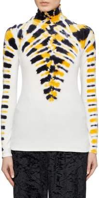 Proenza Schouler Tie-dye long sleeve turtleneck top