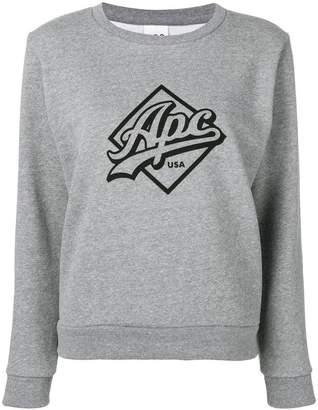 A.P.C. Kimberley logo print sweater