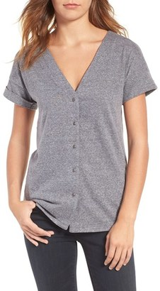 Women's Treasure & Bond Button Front Tee $59 thestylecure.com