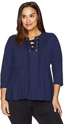 Melissa McCarthy Women's Plus Size Peplum Top