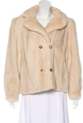 Mink Double-Breasted Jacket