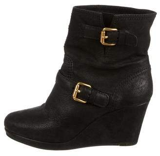 Car Shoe Suede Wedge Ankle Boots