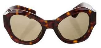 Dries Van Noten Linda Farrow x Tortoiseshell Cat-Eye Sunglasses