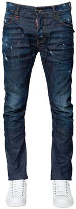 DSQUARED2 17cm Tidy Biker Flap Pocket Denim Jeans