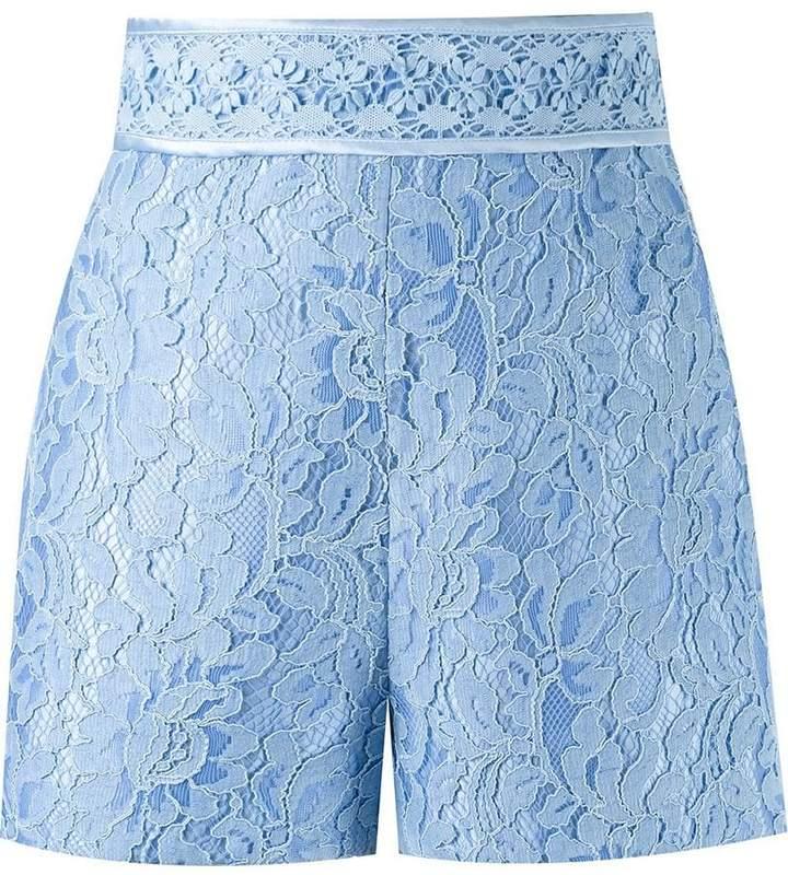 Martha Medeiros high waist lace shorts