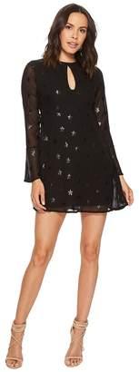 Romeo & Juliet Couture Chiffon Star Motif Dress w/ Keyhole Front Women's Dress