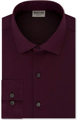 Kenneth Cole Reaction Men's Techni-Cole Slim-Fit Flex Collar Three-Way Stretch Performance Solid Dress Shirt