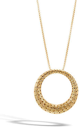 """John Hardy Classic Chain Large Circle Pendant Necklace in 18K Gold, 36"""""""
