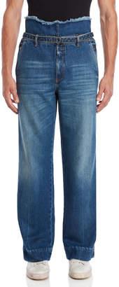 Maison Margiela Blue Denim Belted Jeans