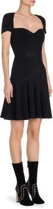 Alexander McQueen Women's Rib-Knit Drop-Waist Dress