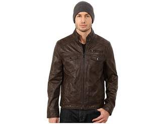 Kenneth Cole Reaction Faux Leather Hipster Men's Coat
