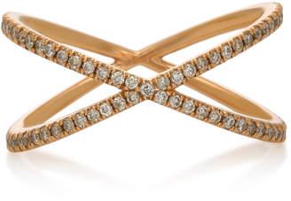 Eva Fehren Fine Shorty 18K Rose Gold and Diamond Ring