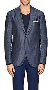 "Boglioli Men's ""K Jacket"" Silk-Linen Two-Button Sportcoat-Blue"