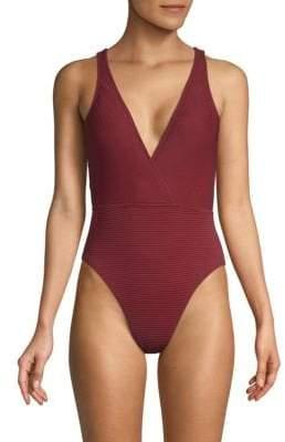 Sin One-Piece Surplice Swimsuit